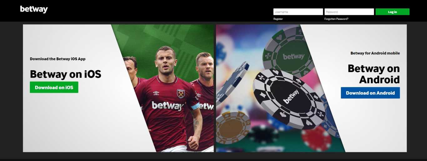 Betway apps for ios or android