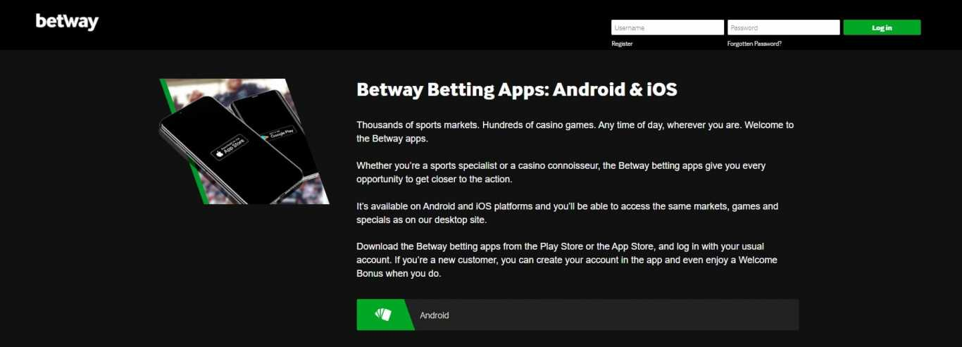 betway betting apps for android and ios