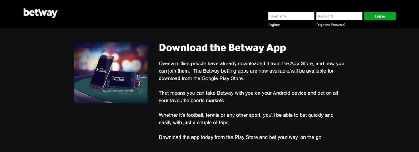 download the betway app